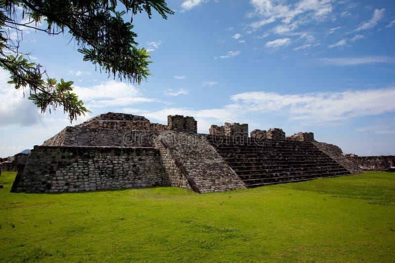 Xochicalco Ruinen lizenzfreie stockfotografie