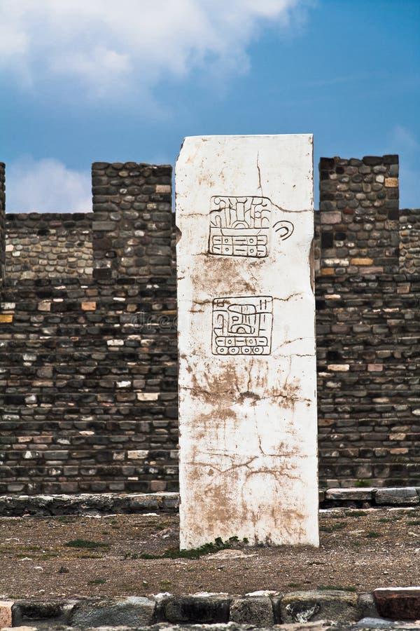 Xochicalco Toltec arruina México fotografia de stock
