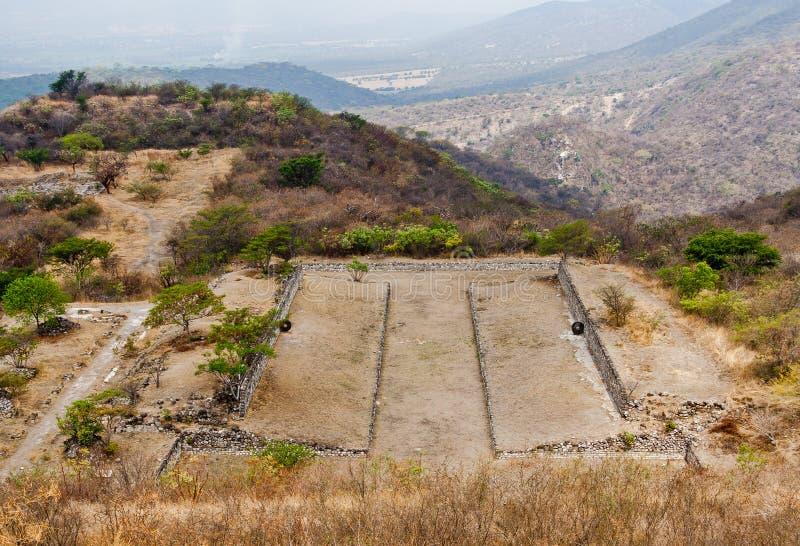 Xochicalco Toltec arruina México foto de stock royalty free
