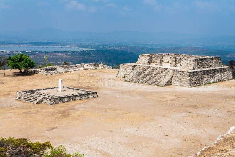 Xochicalco Toltec arruina México imagens de stock royalty free
