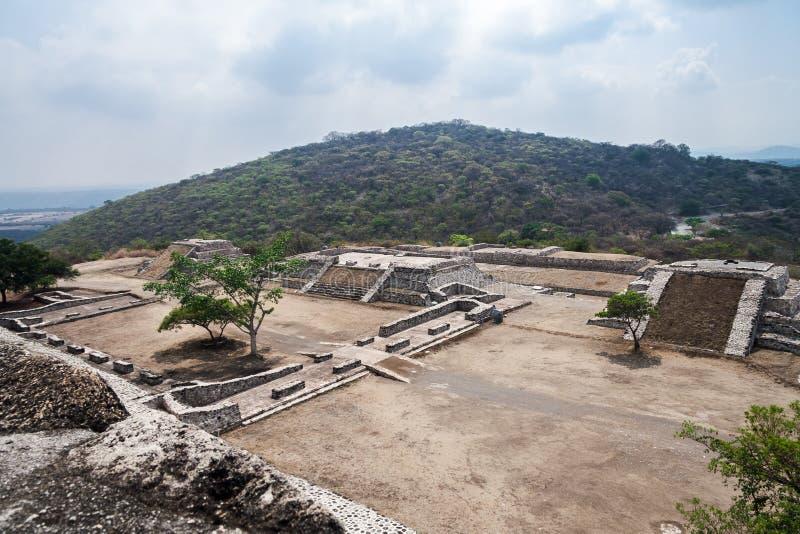 Xochicalco Toltec ruiniert Mexiko lizenzfreie stockfotos