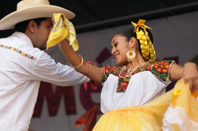 Xochicalli墨西哥民俗的芭蕾 免版税库存图片