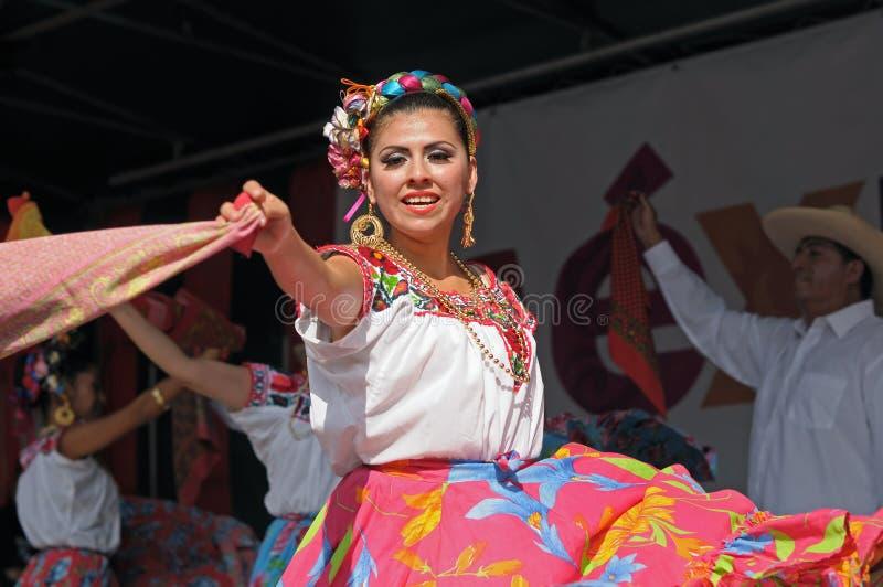 Xochicalli墨西哥民俗的芭蕾 免版税库存照片