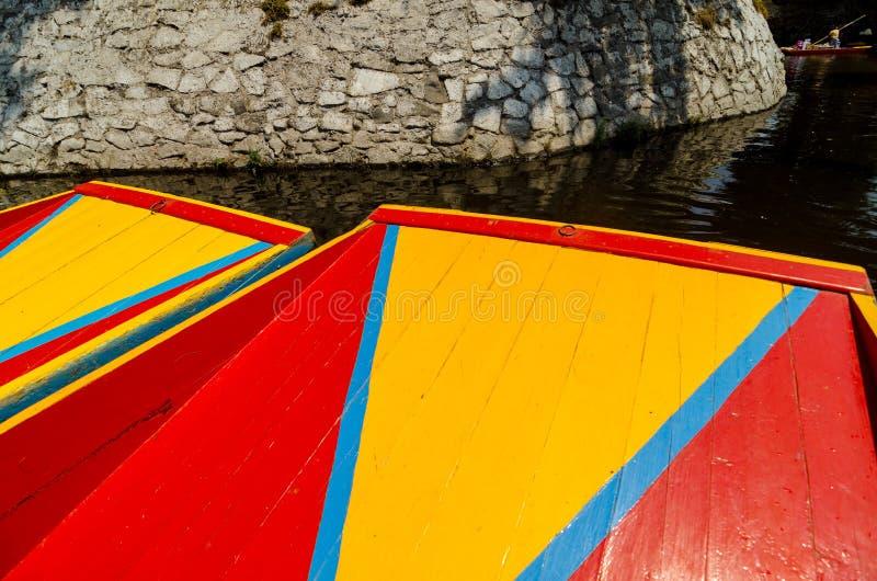 Xochimilco小船 图库摄影