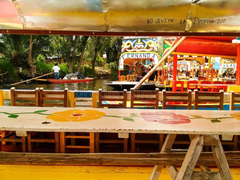 Xochimilco Мексика стоковое фото rf