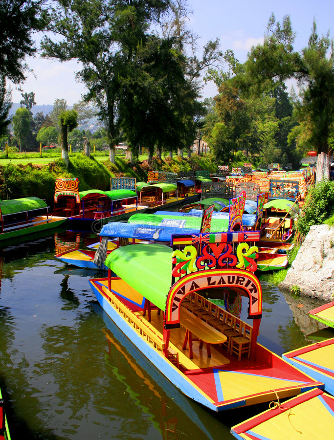 Xochimilco stock photography