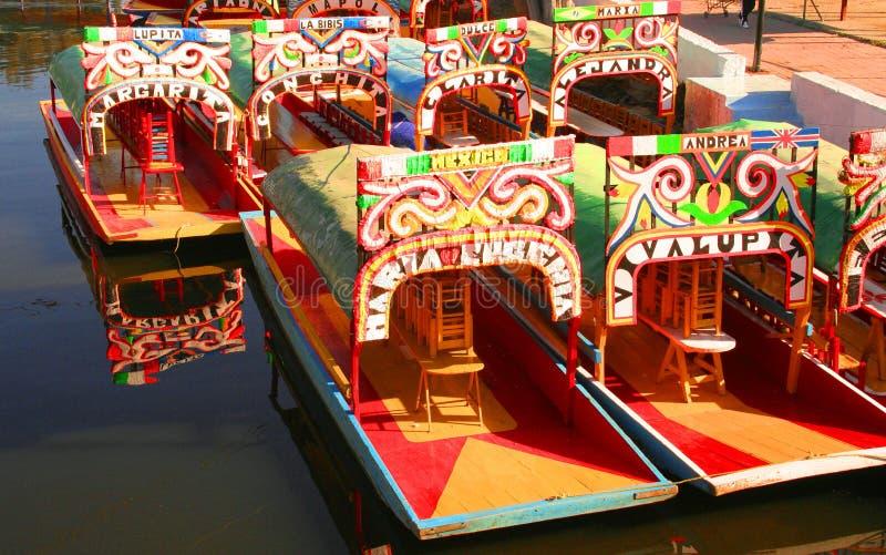Xochimilco Transportation Royalty Free Stock Photo