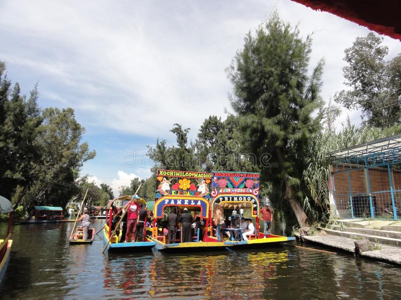 Xochimilco - Venise Mexicana - México imagem de stock