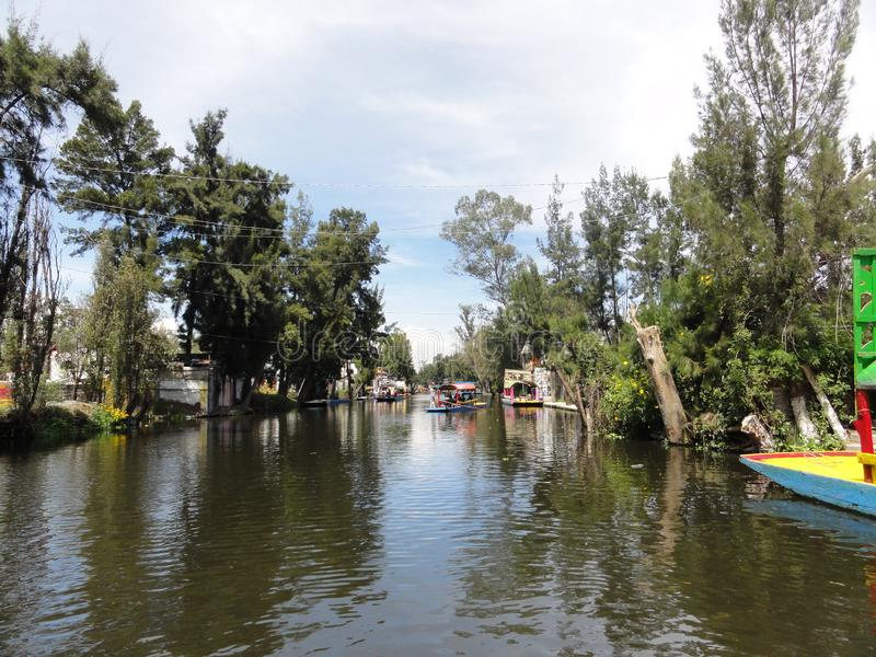 Xochimilco - Venise Mexicana - Mexico stock afbeeldingen