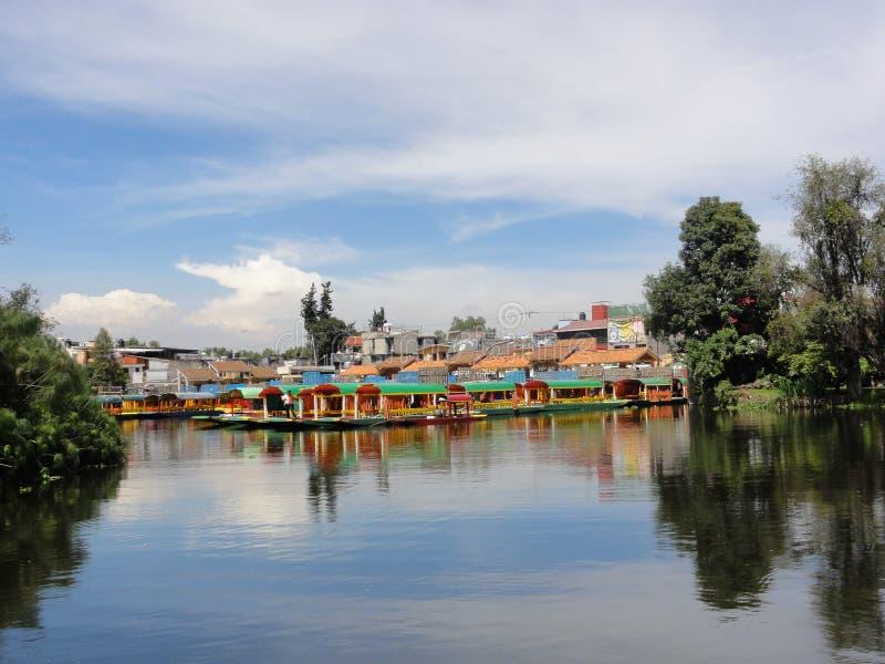 Xochimilco - Venise Mexicana - Mexico stock foto
