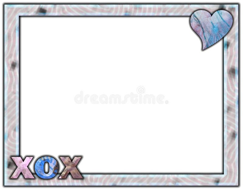 XOX lavender and blue layout vector illustration