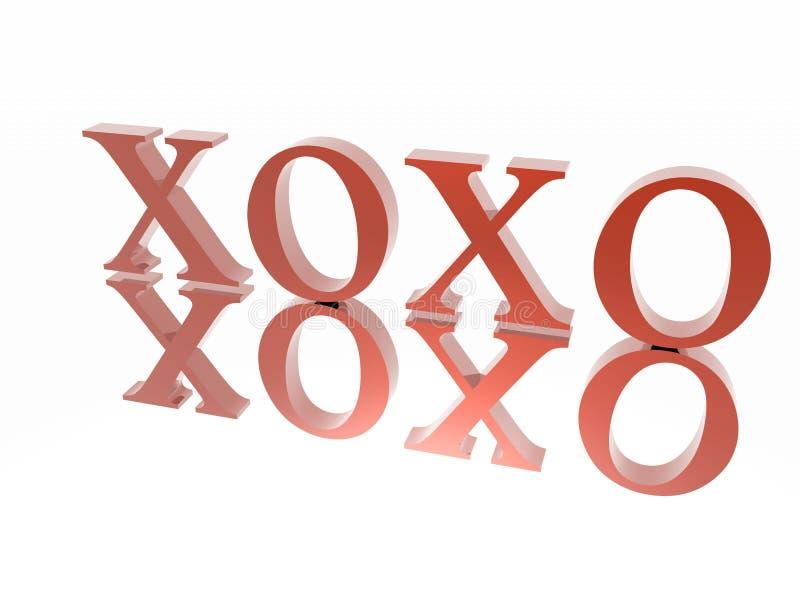 XOXO illustrazione vettoriale