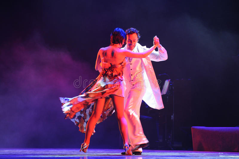Xpress Luck-the identity of the mystery-Tango Dance Drama. Fernanda Ghi and Guillermo Merlo is Argentina's most famous tango dancer, is also a famous stock photos
