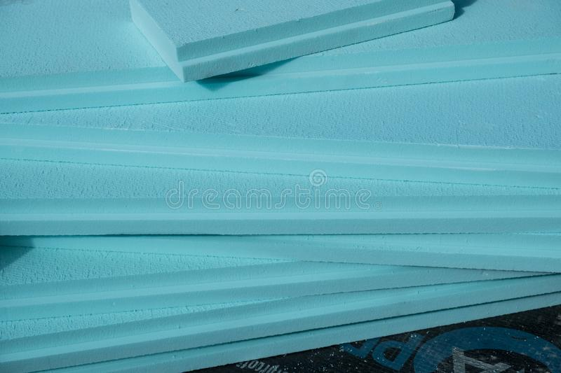 XPS polystyrene insulation boards royalty free stock images