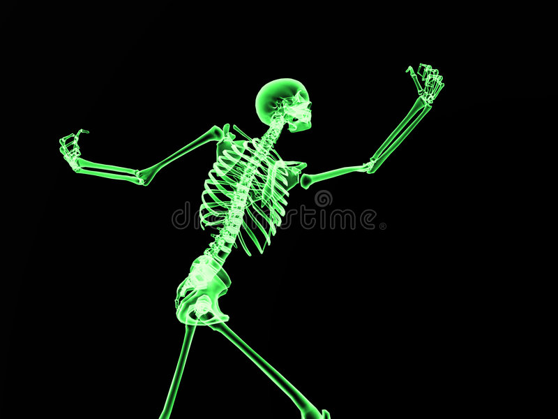 Download Xray Bone 2 stock image. Image of green, humanoid, active - 3319193