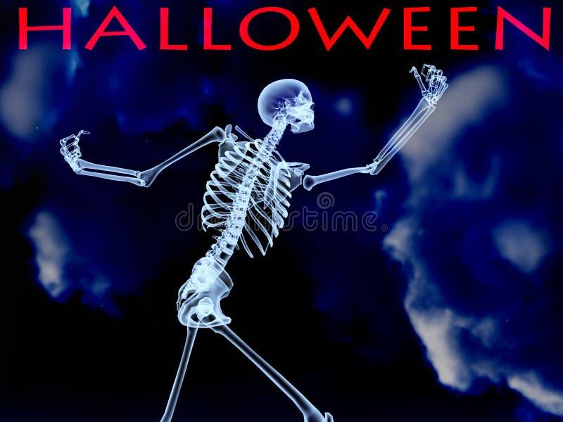 Xray halloweenowa Kość   royalty ilustracja