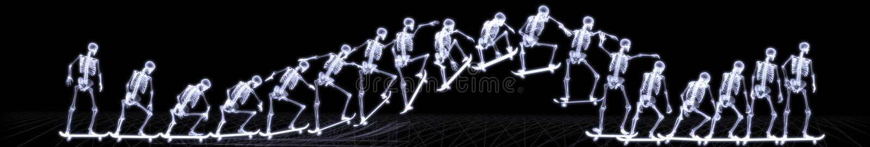Download Xray Of Human Skeleton Jumping Freestyle Stock Illustration - Illustration: 7585116