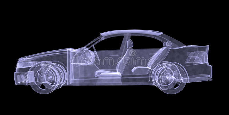 Xray samochód ilustracja wektor