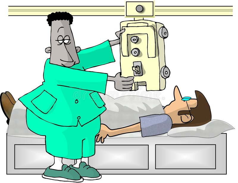 Xray Technician royalty free illustration