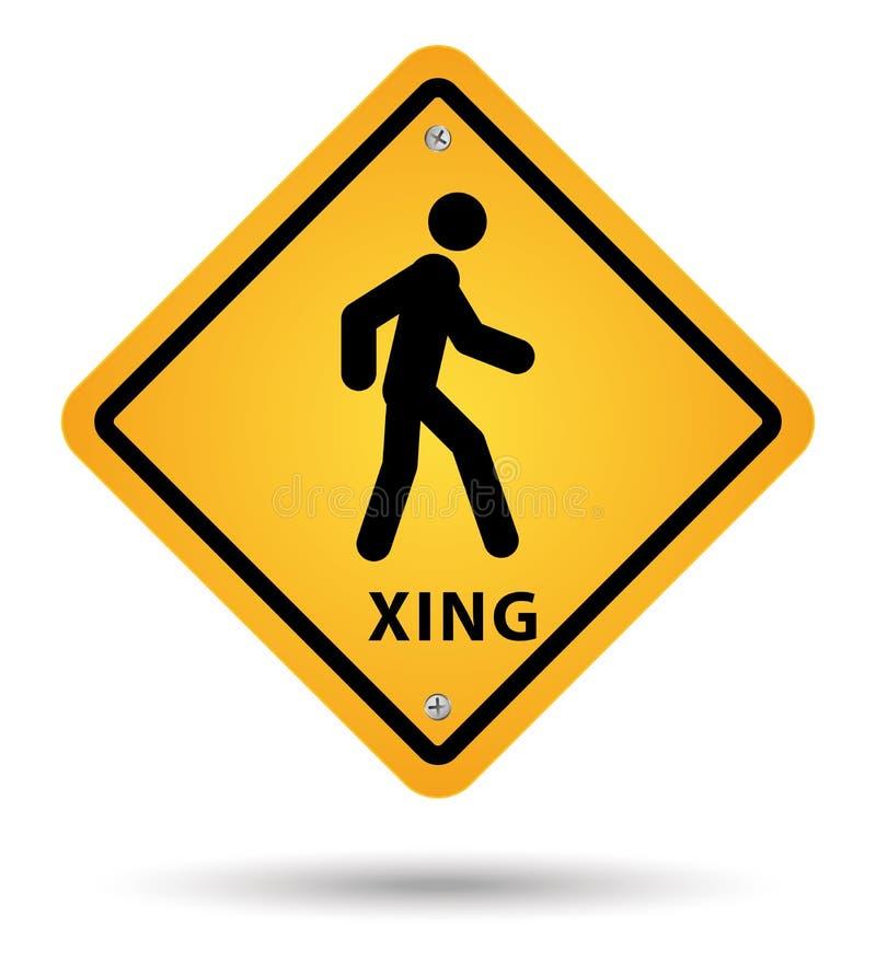 Xsing drogowy znak ilustracja wektor