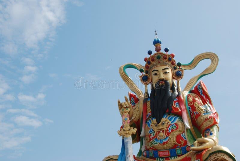Xuan-tian-shang-di Taoist God. A closeup view of Xuan-tian-shang-di, taoist god statue by Lotus Pond in Kaohsiung, Taiwan royalty free stock image