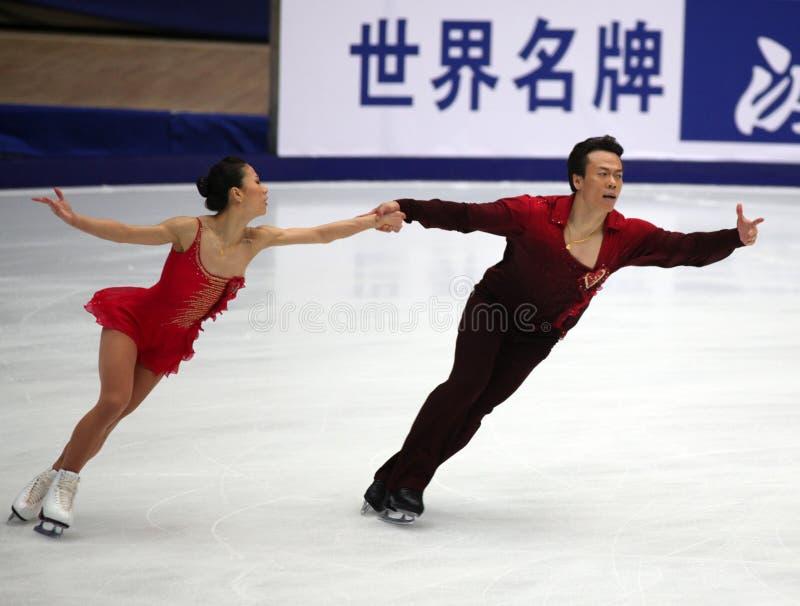Xue Shen und Hongbo Zhao (CHN) stockfotos