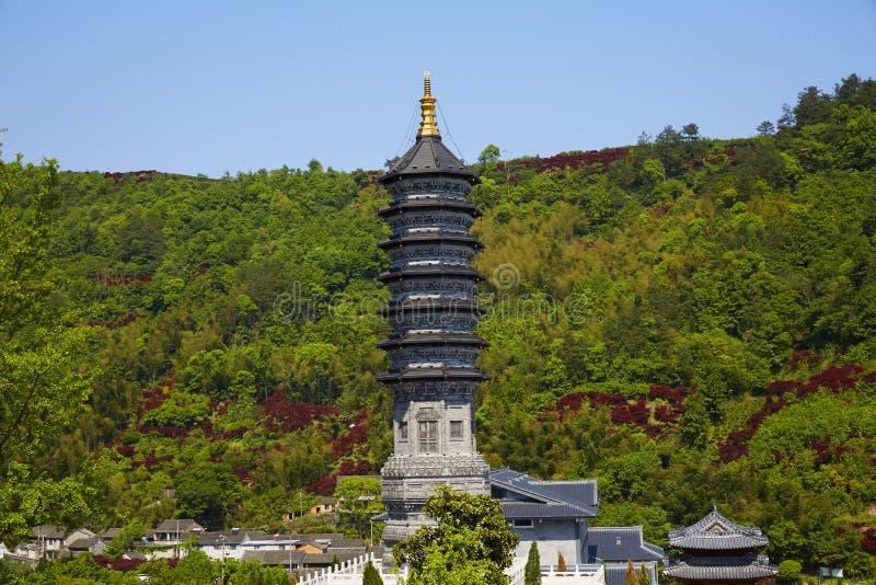 Xuedou torn, Ningbo, Kina arkivbilder