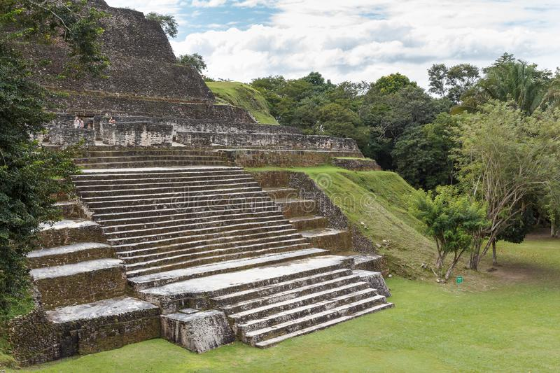 Ruins of the ancient Mayan town. XUNANTULICH / BELIZE - JANUARY 2015: Ruins of the ancient Mayan city Xunantunich, Belize stock images