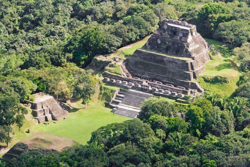 Xunantunich,玛雅人废墟 库存照片