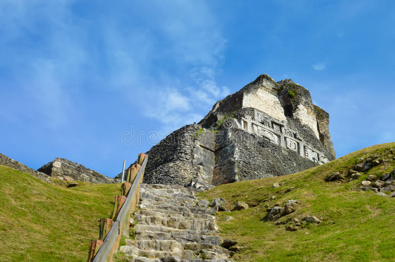 Xunantunich archaeological site of Mayan civilization in Western Belize stock photo