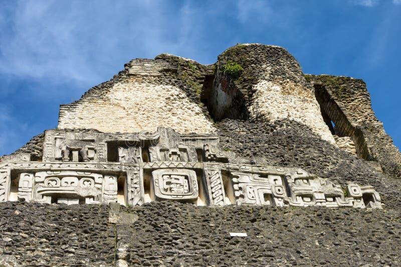 Xunantunich archeologiczny miejsce Majska cywilizacja w westernie fotografia stock