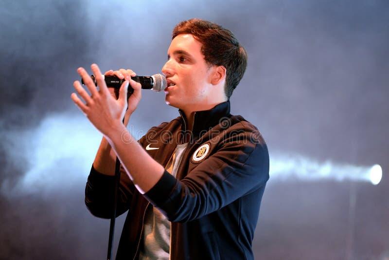 Xuso Jones (Spanish singer) at Primavera Pop Festival by Los 40 Principales royalty free stock images