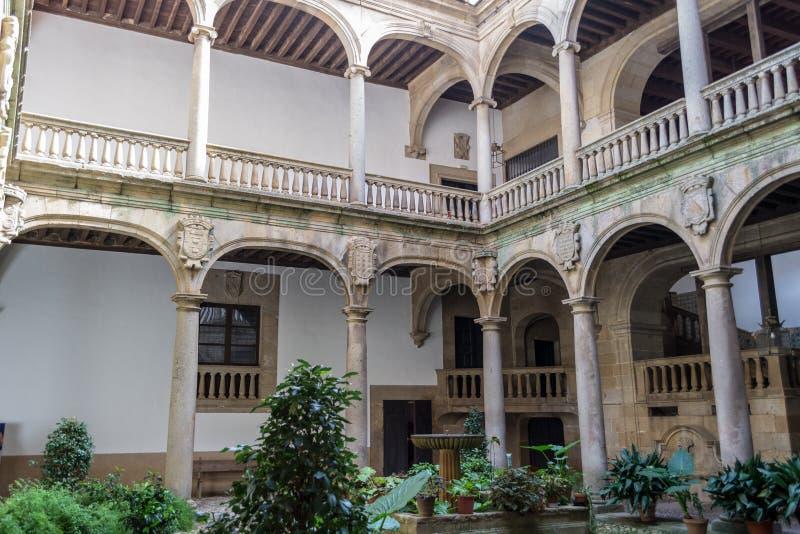 XV paleis in Plasencia (Spanje stock afbeeldingen