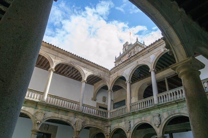 XV paleis in Plasencia (Spanje royalty-vrije stock fotografie