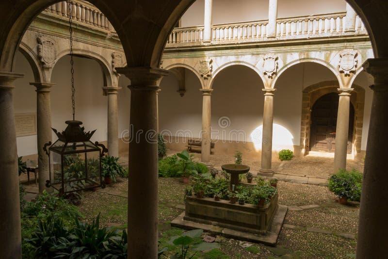 XV paleis in Plasencia (Spanje royalty-vrije stock foto