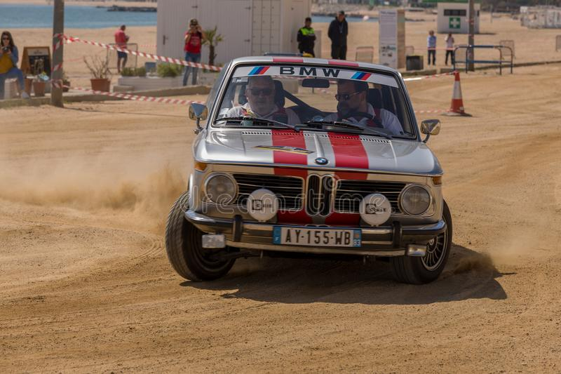 XV Rally Costa Brava Historic car race in a small town Palamos in Catalonia. 04. 20. 2018 Spain, town Palamos.  stock images