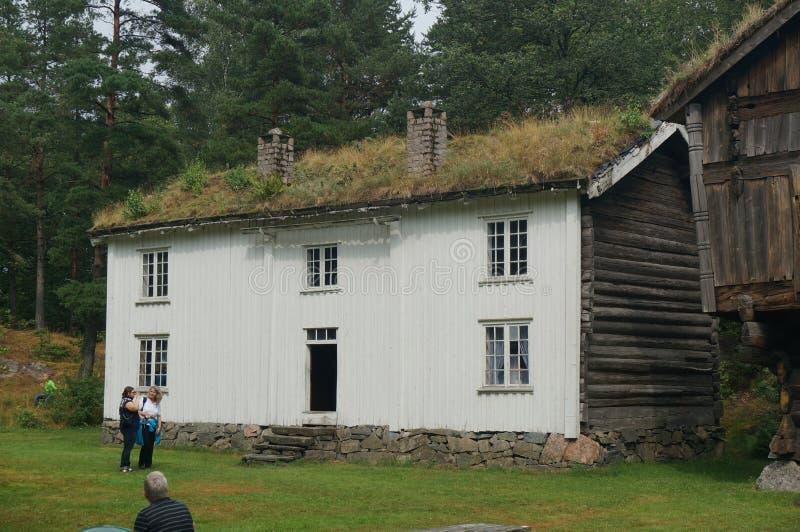 XV stary drewniany tradycyjny budynek, Norwegia zdjęcie stock