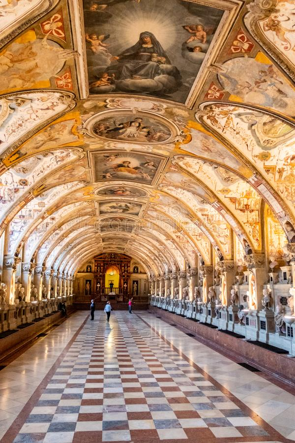 XVI wiek Hall dawność Antiquarium w siedziba pałac, Monachium, Niemcy obraz royalty free