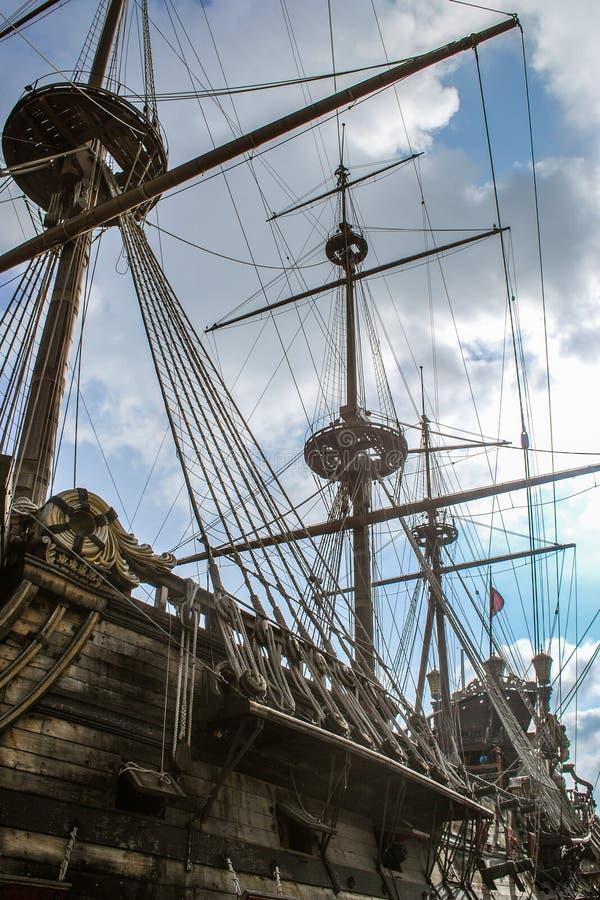XVII wiek Hiszpański galeon - Neptune Kolumb zdjęcia royalty free
