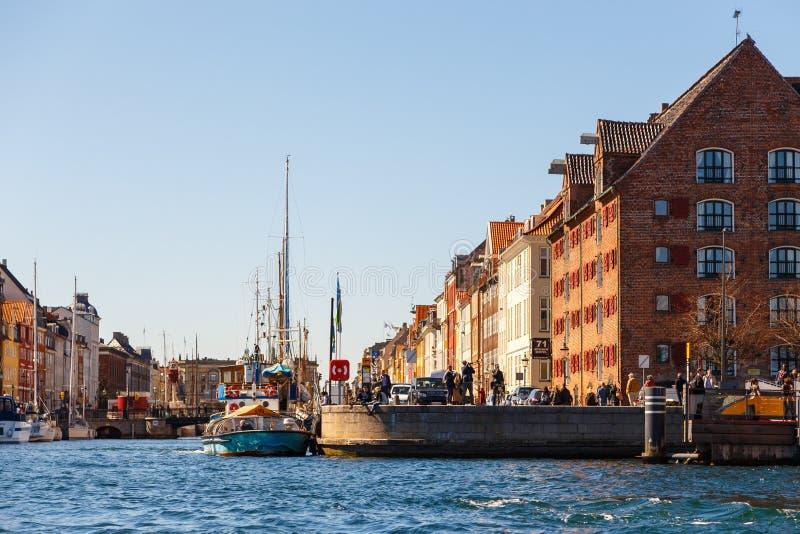 XVII wiek nabrzeże Nyhavn w Kopenhaga obraz royalty free