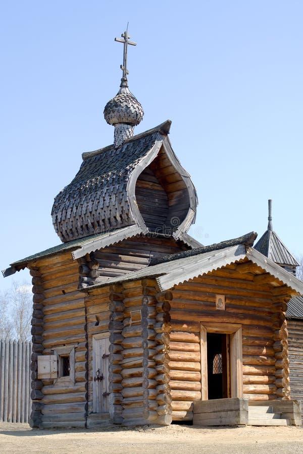 Xvii wieku kościoła drewna obrazy stock