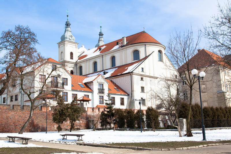 De kerk van de jezuïet in Piotrkow Trybunalski stock foto