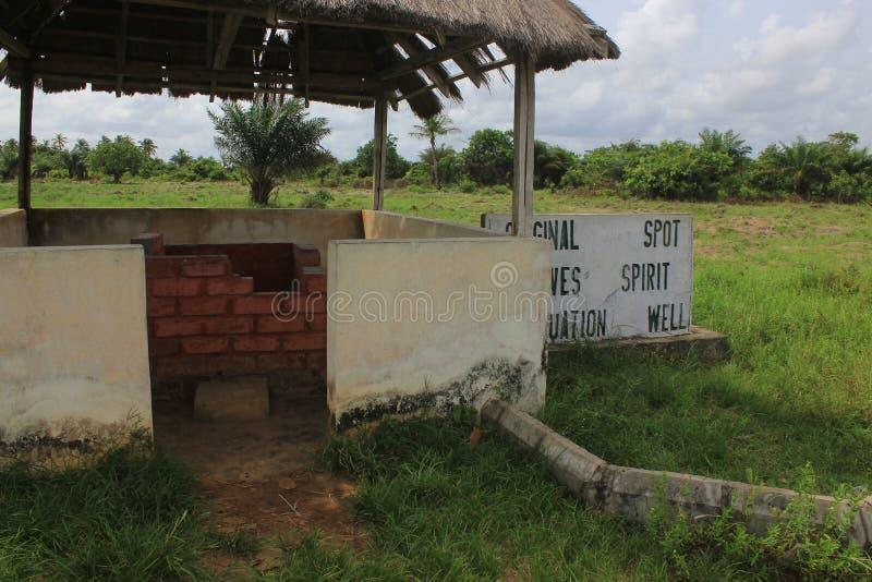 xviii wiek Atlantyk niewolnicze relikwie znać jako attenuation wellat Badagry, Lagos, Nigeria fotografia stock