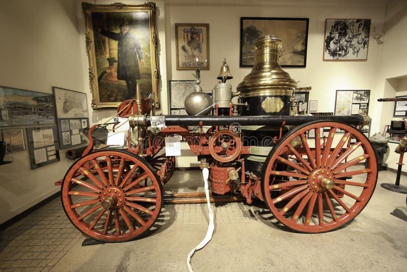 Pożarniczy w Nowy Jork Miasto Nowy Jork Pożarniczym muzeum obraz royalty free