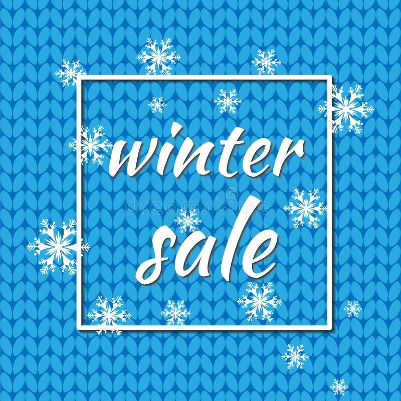 XWinter sprzedaż również zwrócić corel ilustracji wektora Zimy tło błękitny kolor z płatkami śniegu i światłami dla sezonowej pro ilustracji