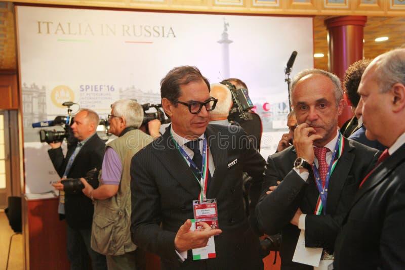 XX Świątobliwy Petersburg międzynarodowy ekonomiczny forum (SPIEF 2016 Rosja) goście, goście i uczestnicy forum, zdjęcie royalty free