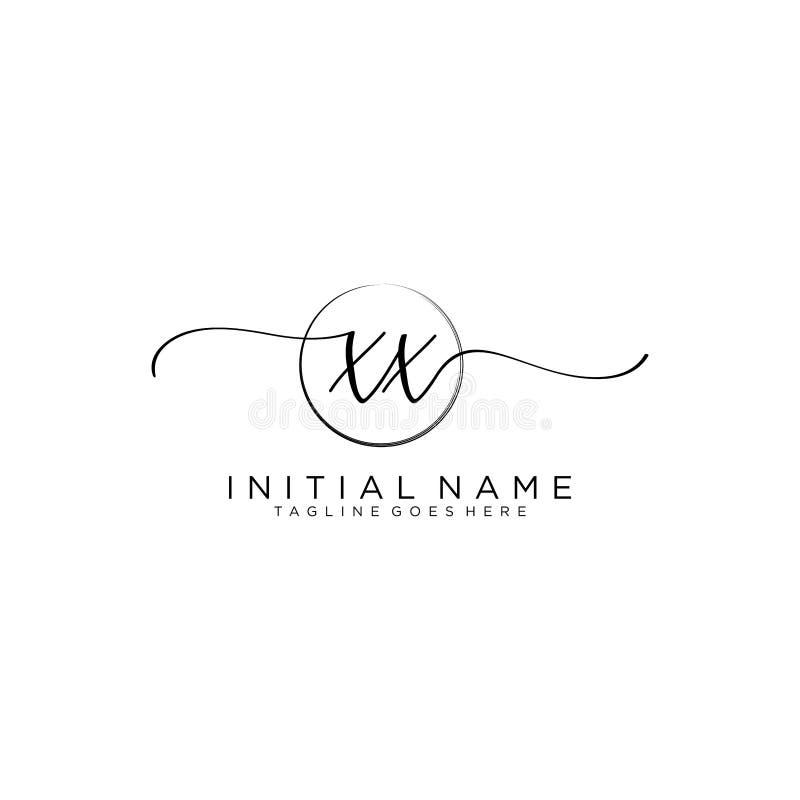 Free XX Beauty Vector Initial Logo, Handwriting Logo Of Initial Signature Royalty Free Stock Image - 161040786