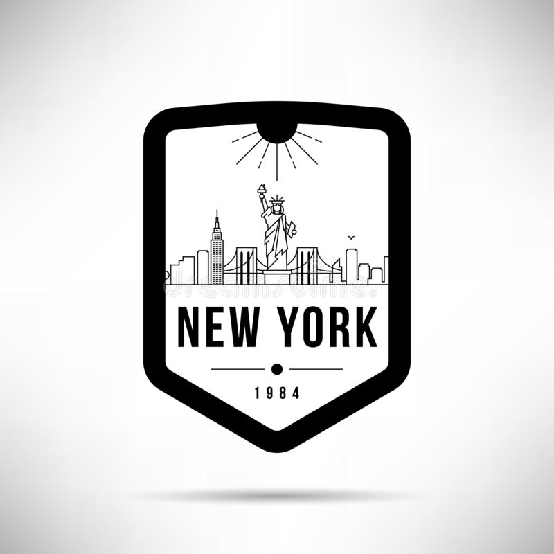 New York City Modern Skyline Vector Template royalty free illustration