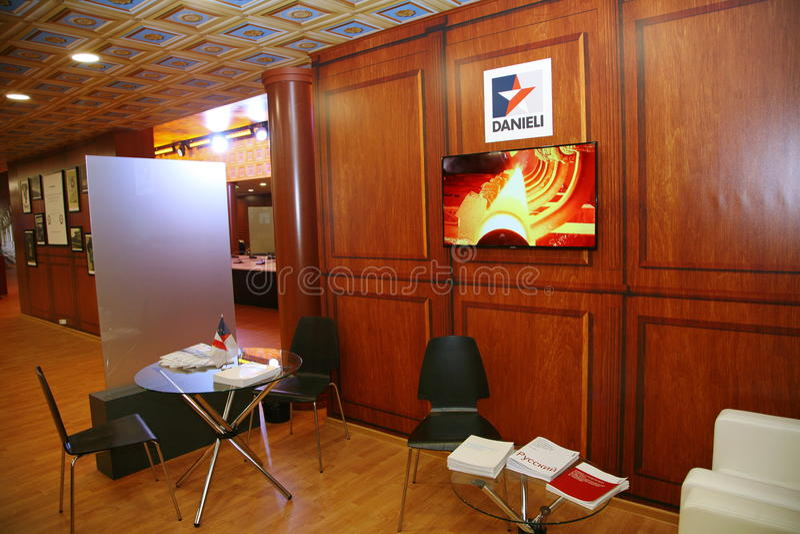 XX forum economico internazionale di San Pietroburgo (SPIEF Russia 2016) Nel padiglione Italia fotografia stock libera da diritti