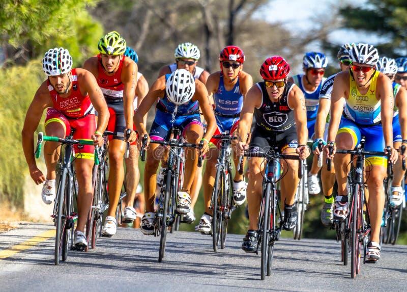 XXI triathlon Herbalife Villa de Rota royaltyfria foton